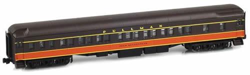AZL 71220-1 - 8-1-2 Pullman Sleeper JOHN McLOUGHLIN IC Brown and Orange