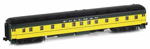 AZL 71305-2 - 6-3 Pullman Sleeper TENNYSON CNW Yellow & Green
