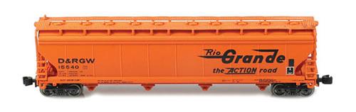 AZL 90702-2 - ACF 4-Bay Hopper Set 2 D&RGW 4 pack