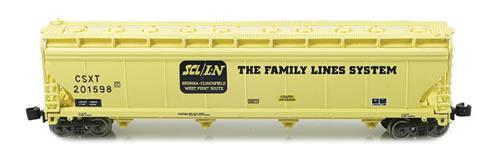 AZL 90703-1 - ACF 4-Bay Hopper Set CSX 4 pack