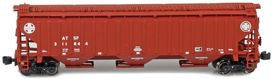 AZL 91923-2 - ATSF (Brown w/cross logo) PS2 CD 4750 Covered Hopper 312757