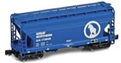 ACF 2-Bay Hopper Wagon 173848 of the GN