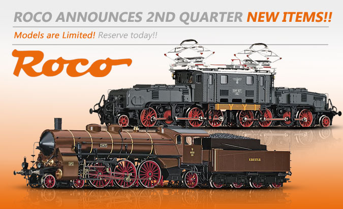 Roco Announces 2nd Quarter New Items!