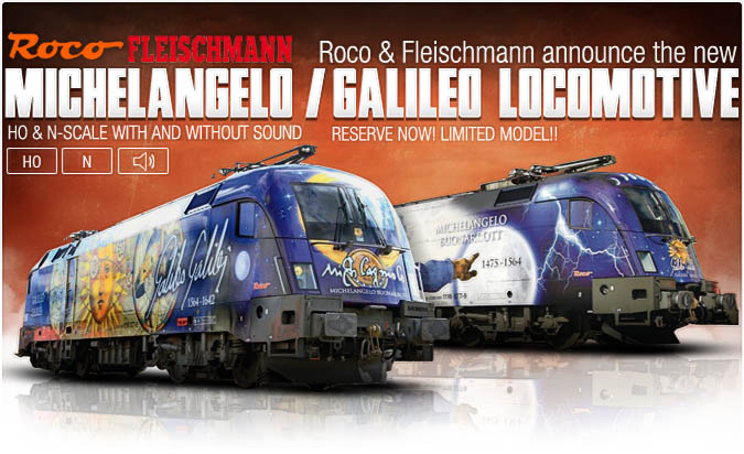 Michelangelo and Galileo Locomotive from Roco and Fleischmann