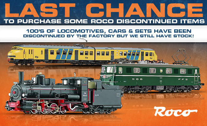 Last Chance to purchase Roco Discontinued Items!!