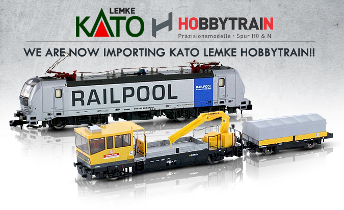 We are now importing Kato Lemke Hobbytrain!