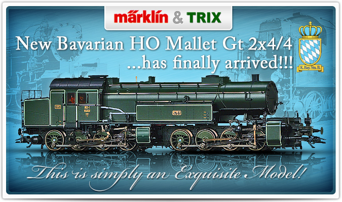 Marklin &Trix New Bavarian HO Mallet Gt 2x4/4 Has Finally Arrived!