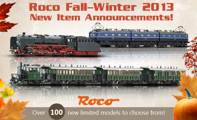 Roco Fall-Winter 2013 New Item Announcements!