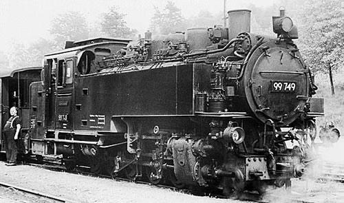 Bemo 1008827 - German Steam Locomotive BR 99 760 of the DR