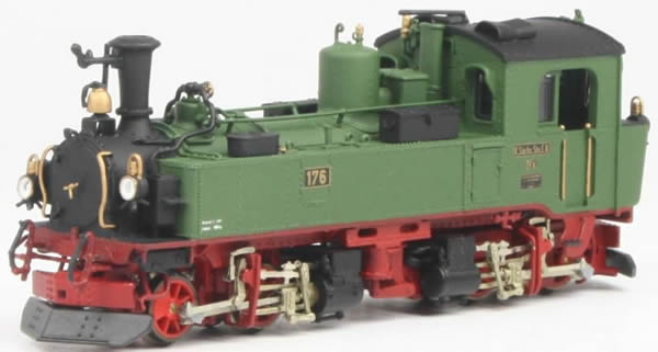 Bemo 1016836 - German Steam Locomotive  IVI-K No 176 of the K.Sä.Sts.B