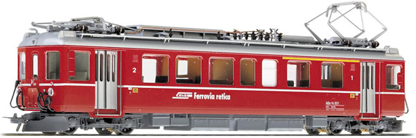 Bemo 1265141 - Swiss Electric Railcar ABe 4/4 501 of the RHB