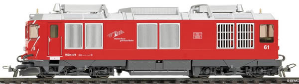 Bemo 1267251 - Swiss Diesel Locomotive HGm 4/4 61 MGB
