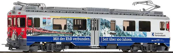 Bemo 1269194 - Swiss Advertising Railcar ABe 4/4 54 Banca Cantonale Grigione of the RHBdigital