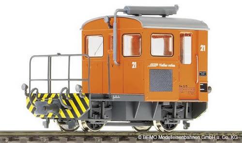 Bemo 1273131 - Swiss Diesel Shunting Locomotive Tm 2/2 21 of the RHB