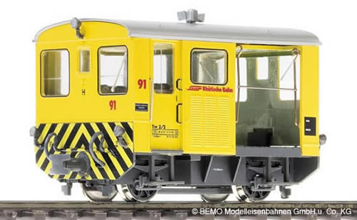 Bemo 1274193 - Swiss Diesel Shunting Locomotive Tm 2/2 93 of the RHB