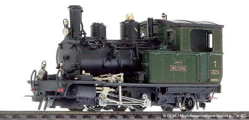 Bemo 1292527 - Swiss Steam Locomotive HG 2/3 7 Breithorn of the BVZ, Metal Collection