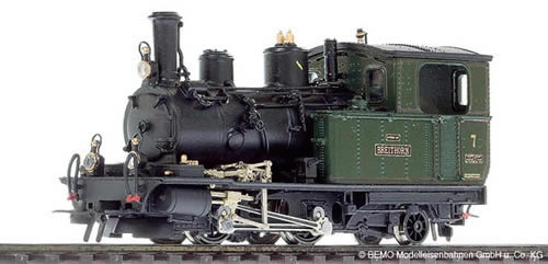 Bemo 1292527 - Swiss Steam Locomotive HG 2/3 7 Breithorn of the BVZ, Metal Collection