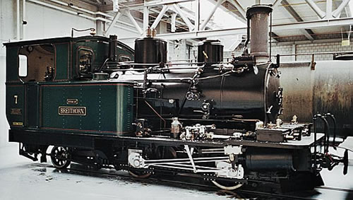 Bemo 1292596 - Swiss Steam Locomotive HG 2/3 6 Weißhorn of the DFB, Metal Collection
