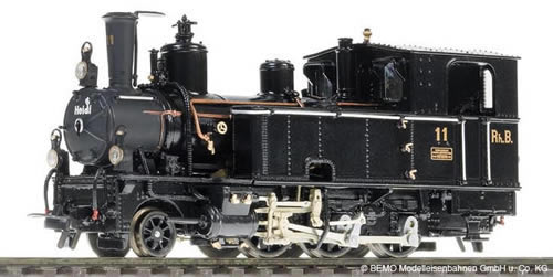 Bemo 1295121 - Swiss Steam Locomotive G 3/4 11 Heidi of the RHB, Metal Collection