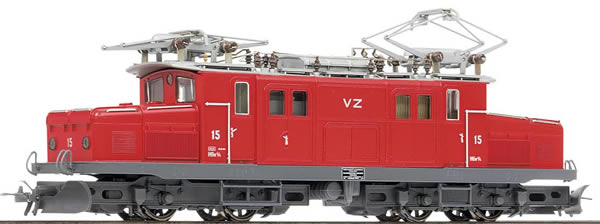 Bemo 1353535 - Swiss Electric Locomotive HGe 4/4 15  Krokodil of the BVZ (DCC Decoder)