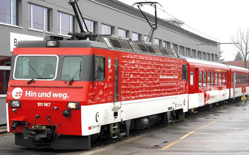 Bemo 1362477 - Swiss Electric Locomotive eg HGe 101 967 Out and about of the SBB (DCC Decoder)