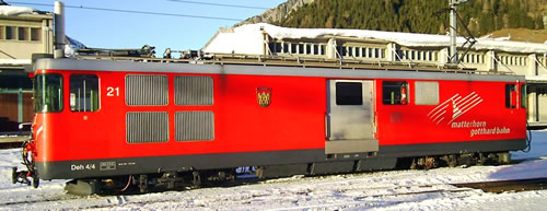 Bemo 1363551 - Swiss Luggage Railcar Deh 4/4 21 of the MGB (DCC Decoder)