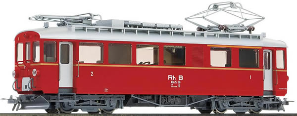 Bemo 1368136 - Swiss Electric Railcar ABe 4/4 36 of the RHB (DCC Decoder)