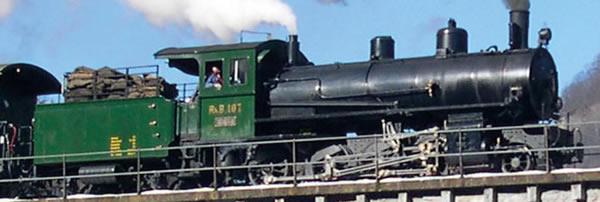 Bemo 1390127 - Swiss Steam Locomotive G 4/5 107 Albula of the RHB (DCC Decoder)