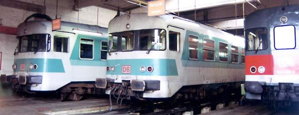 Bemo 1520830 - German Diesel Railcar 624 632/624 678 of the DB