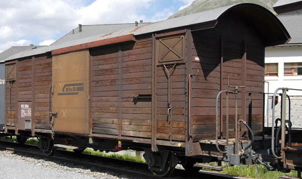 Bemo 2250154 - Covered Freight Car Serie Gb