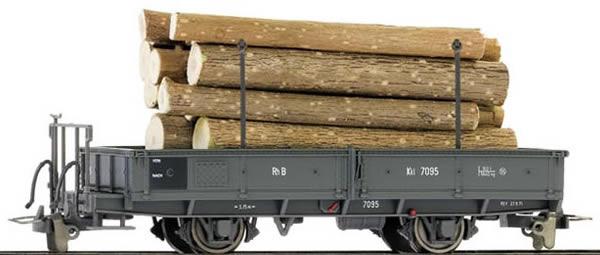 Bemo 2257115 - Kkl 7095 Flat Wagen with wood load
