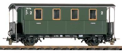 Bemo 3003820 - 2nd Class Passenger Coach KBi 740 2-achs.