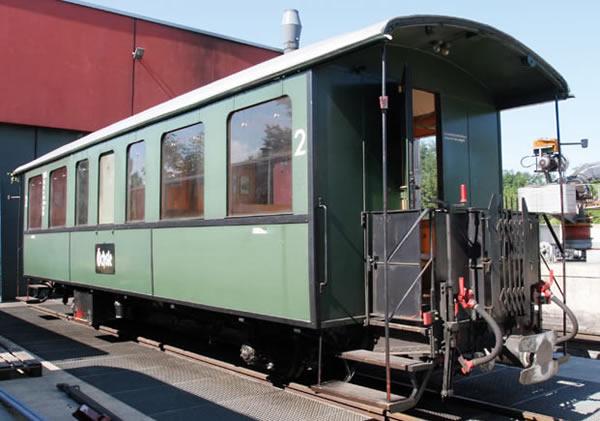 Bemo 3031837 - 2nd Class Passenger Wagen Öchsle 2077 Stg