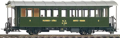 Bemo 3232148 - Buffet Wagen B 2138 Filisurer Stübli