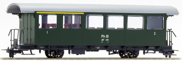 Bemo 3233129 - 1/2 Class Passenger Coach AB2 1419