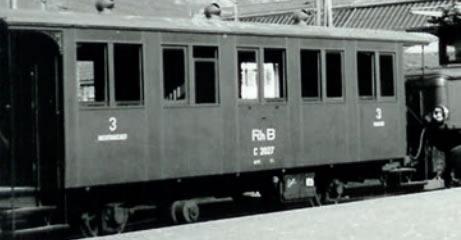 Bemo 3234134 - RhB C 2014 Two-axle passenger coach