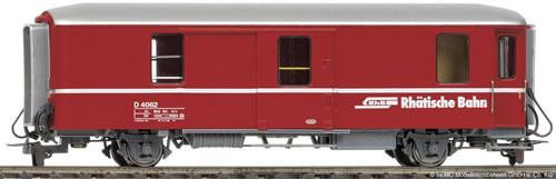 Bemo 3236112 - RhB D 4062 Packwagen red