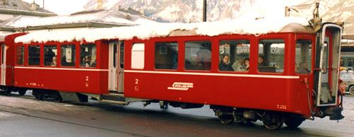 Bemo 3245114 - Swiss Passenger Coach B 2304 Center Entrance Cars of the RhB