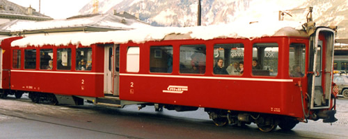 Bemo 3245119 - Swiss Passenger Coach B 2309 Center Entrance Cars of the RhB