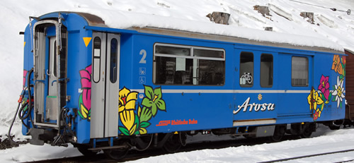Bemo 3248141 - Swiss Baggage Car BD 2481 Arosa Express of the RhB