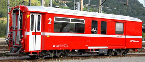 Bemo 3248161 - Swiss Baggage Car BD 2481 of the RhB