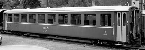 Bemo 3253118 - Swiss Passenger Coach B 2318 standard cars, I of the RhB