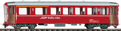 Bemo 3256145 - 2nd Class Passenger Coach AB 1545 I, BB red