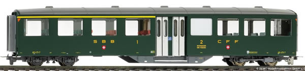 Bemo 3258413 - 1/2 Class Historic Passenger Coach AB 473