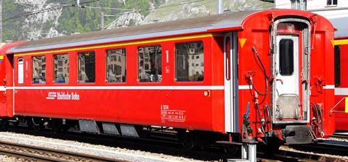 Bemo 3268154 - Swiss  Passenger Coach A 1254 unit car I Glacier Express of the RhB