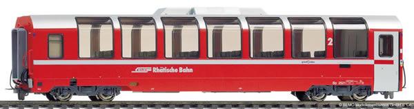 Bemo 3294131 - 2nd Class Panorama Passenger Coach Bp 2521 Bernina Express