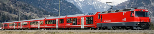 Bemo 3298101 - Albula articulated train AGZ middle car A 570 01 of the RHB