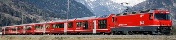 Bemo 3298161 - Albula-Link AGZ Endcar Bi 576 01 of the RHB