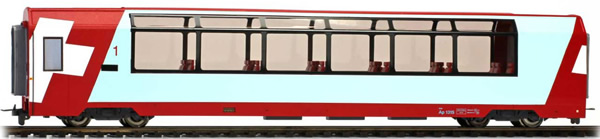 Bemo 3689115 - 1st Class Panorama Passenger Coach Ap 1314 Glacier-Express
