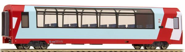 Bemo 3689128 - 2nd Class Panorama Passenger Coach Bp 2538 Glacier-Express